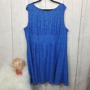 Dress barn blue lace dress size 22